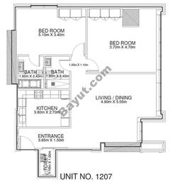 2 Br - Unit 1207 - 12th Floor