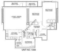 2 Br - Unit 1308 - 13th Floor