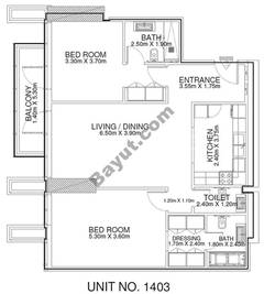 2 Br - Unit 1403 - 14th Floor