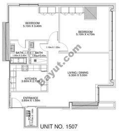 2 Br - Unit 1507 - 15th Floor