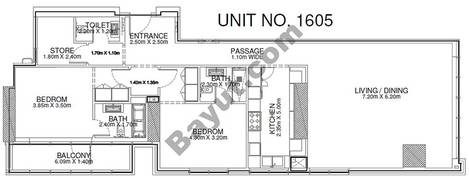 2 Br - Unit 1605 - 16th Floor