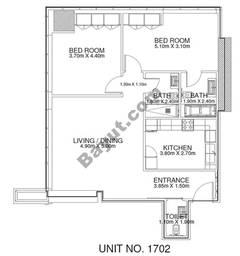2 Br - Unit 1702 - 17th Floor