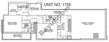 2 Br - Unit 1705 - 17th Floor