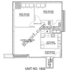 2 Br - Unit 1802 - 18th Floor
