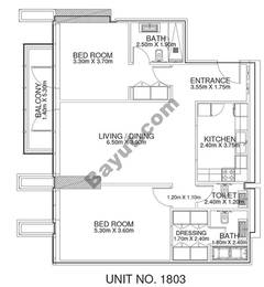 2 Br - Unit 1803 - 18th Floor