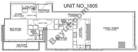 2 Br - Unit 1805 - 18th Floor