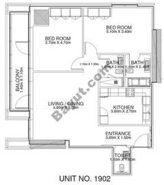 2 Br - Unit 1902 - 19th Floor