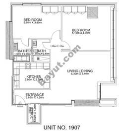 2 Br - Unit 1907 - 19th Floor
