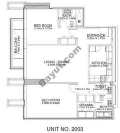 2 Br - Unit 2003 - 20th Floor