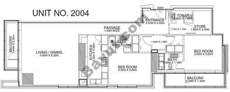 2 Br - Unit 2004 - 20th Floor