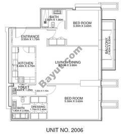 2 Br - Unit 2006 - 20th Floor