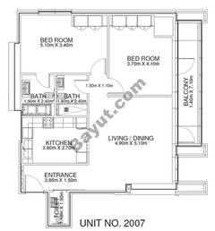 2 Br - Unit 2007 - 20th Floor