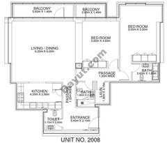 2 Br - Unit 2008 - 20th Floor