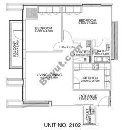 2 Br - Unit 2102 - 21th Floor