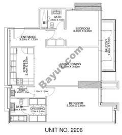 2 Br - Unit 2206 - 22nd Floor