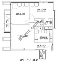 2 Br - Unit 2302 - 23rd Floor