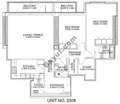 2 Br - Unit 2308 - 23rd Floor
