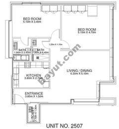 2 Br -Unit 2507 - 25th Floor