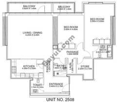 2 Br -Unit 2508 - 25th Floor