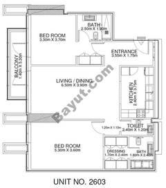 2 Br - Unit 2603 - 26th Floor