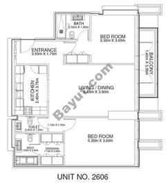 2 Br - Unit 2606 - 26th Floor