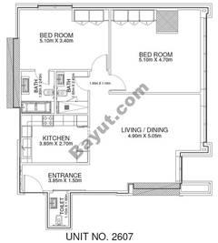 2 Br - Unit 2607 - 26th Floor