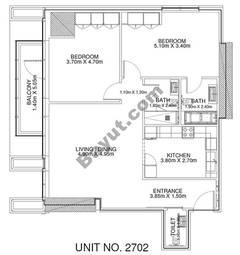 2 Br - Unit 2702 - 27th Floor