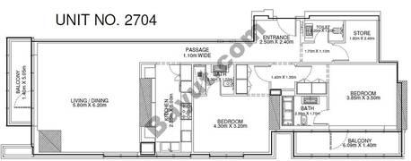 2 Br - Unit 2704 - 27th Floor