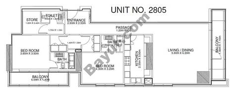 2 Br - Unit 2805 - 28th Floor