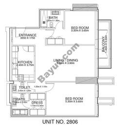 2 Br - Unit 2806 - 28th Floor