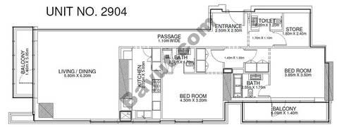 2 Br - Unit 2904 - 29th Floor