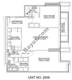 2 Br - Unit 2906 - 29th Floor