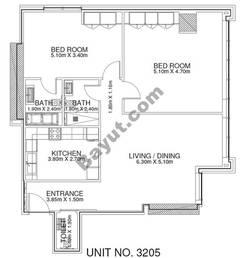2 Br - Unit 3205 - 32nd Floor