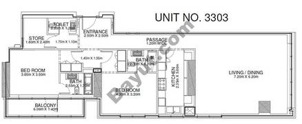 2 Br - Unit 3303 - 33rd Floor