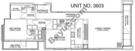 2 Br - Unit 3603 - 36th Floor