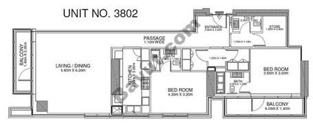 2 Br - Unit 3802 - 38th Floor