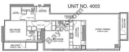 2 Br - Unit 4003 - 40th Floor