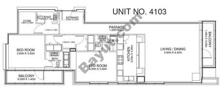 2 Br - Unit 4103 - 41st Floor