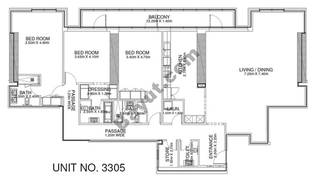 3 Br - Unit 3305 - 33rd Floor