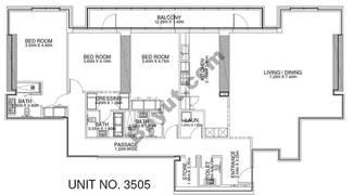 3 Br - Unit 3505 - 35th Floor