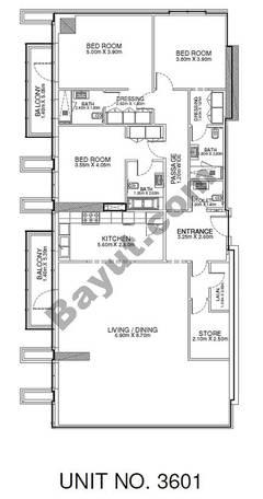 3 Br - Unit 3601 - 36th Floor