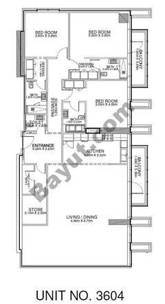 3 Br - Unit 3604 - 36th Floor