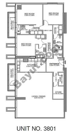 3 Br - Unit 3801 - 38th Floor