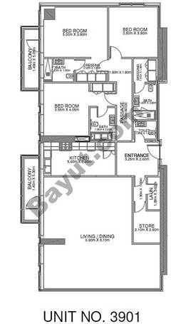 3 Br - Unit 3901 - 39th Floor