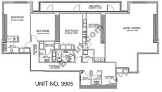 3 Br - Unit 3905 - 39th Floor