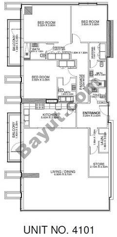 3 Br - Unit 4101 - 41st Floor
