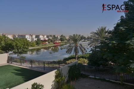 3 Bedroom Villa for Rent in Arabian Ranches, Dubai - Full Lake View - Type 3E - Landscaped Garden