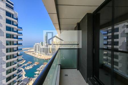 1 Bedroom Apartment for Sale in Sheikh Zayed Road, Dubai - Marina view-High Floor-Vacant 1 BD for sale in Escan Tower