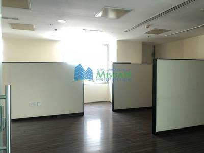 Office for Rent in Deira, Dubai - Free Fully fitted partitioned 2250sq.ft @ 75/sq.ft office with Parkings Near Nissan showroom