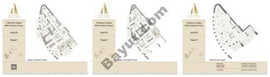 Burj Vista Penthouse Collection_all floor plans - 1